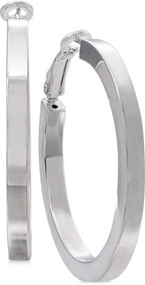 Macy's Square-Edge Polished Hoop Earrings in Sterling Silver