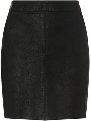 021e5e2bf2d Dorothy Perkins Womens Petite Black Faux Leather Skirt