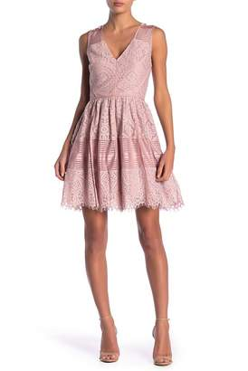 Adelyn Rae Estelle Lace Fit & Flare Dress