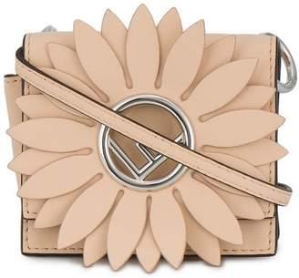 Fendi pink Kan I F micro leather bag