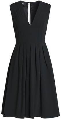 Rochas Pleated Crepe Dress