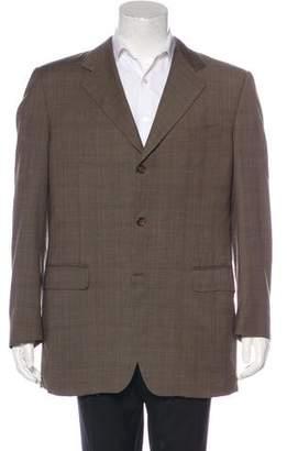 Canali Wool Plaid Blazer