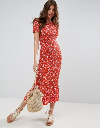 ASOS City Maxi Tea Dress In Floral Print $48 thestylecure.com