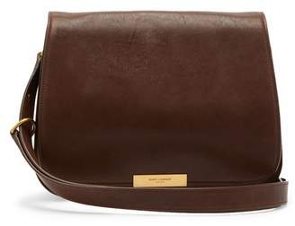 Saint Laurent Amalia Leather Cross Body Bag - Womens - Dark Brown