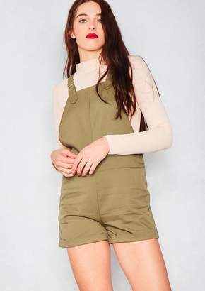 ba30c5a4763 Missy Empire Missyempire Lola Khaki Pinafore Dress