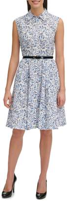 Tommy Hilfiger Olive-Print Cotton Shirtdress