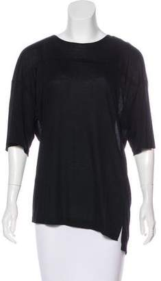 Baja East Oversize Scoop Neck Top