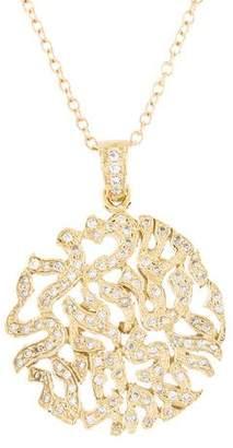 Reiss I. 14K Diamond Shema Yisrael Blessing Pendant Necklace