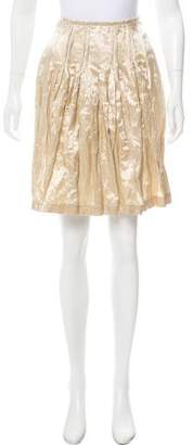 Ermanno Scervino Pleated Knee-Length Skirt