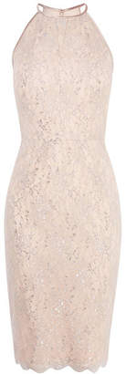 Karen Millen Halterneck Lace Pencil Dress