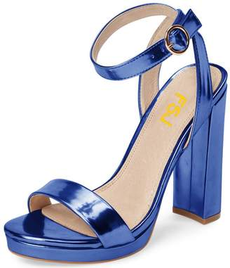 e5f8047b83a FSJ Women Sexy Ankle Strap Platform Sandals Open Toe Chunky High Heel for  Summer Shoes Size