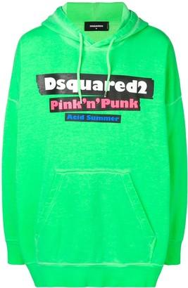 DSQUARED2 oversized hooded sweatshirt