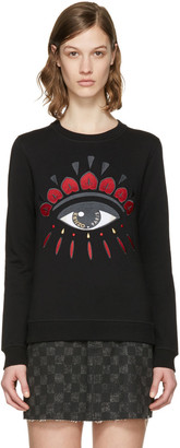 Kenzo Black Chinese New Year Eye Pullover $245 thestylecure.com