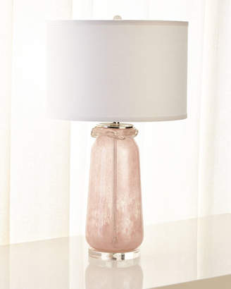 Jamie Young Pink Glass Table Lamp