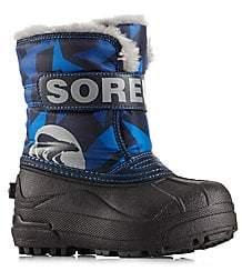 Sorel Boy's Snow Commander Faux Fur Accented Boots