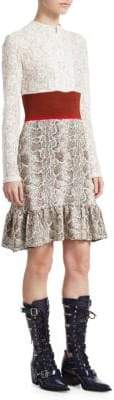 Chloé Lace Snake Print Dress