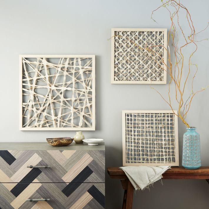 west elm Handmade Paper Wall Art - Diagonal