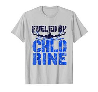 Fueled By Chlorine T-Shirt Swimming Swimmer Gifts