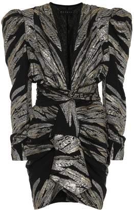 Dundas Silk brocade minidress