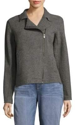 Eileen Fisher Boiled Wool Moto Jacket
