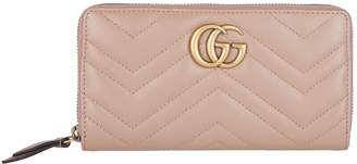 Gucci Leather Marmont Zipped Wallet