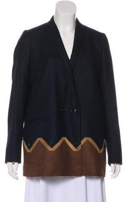 Kolor Wool Notch-Lapel Blazer