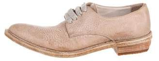 Brunello Cucinelli Leather Point-Toe Oxfords w/ Tags