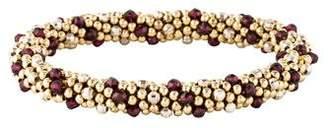Meredith Frederick Jewelry 14K Garnet Bead Bracelet