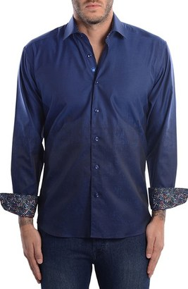 Men's Bertigo Abstract Modern Fit Sport Shirt $159 thestylecure.com