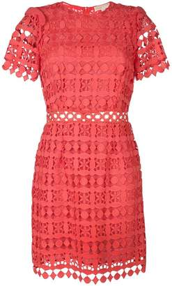 MICHAEL Michael Kors geometric floral lace dress