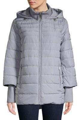 Kenneth Cole New York Quilted Hooded Jacket