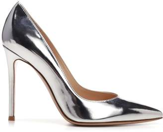 Gianvito Rossi Metallic Pointed Toe Pumps