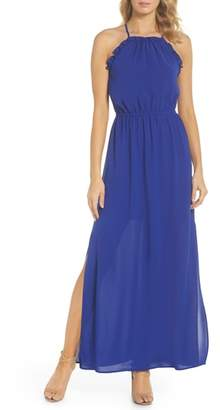 Adrianna Papell Crepe Blouson Maxi Dress