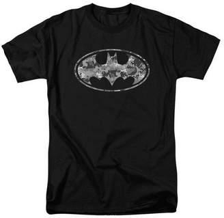 Batman Trevco Urban Camo Shield - Short Sleeve Adult 18-1 Tee - Black, 5X