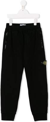 Stone Island Junior elasticated waist track pants