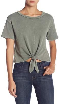 Love, Fire Knot Front Short Sleeve Shirt