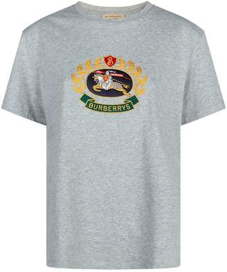 Burberry Crest Embroidered T-Shirt