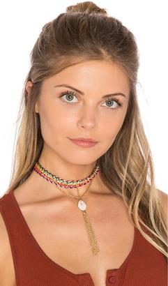 Ettika Rainbow Seashell Choker $45 thestylecure.com