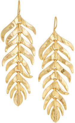 Kenneth Jay Lane Satin-Finished Feather Dangle Earrings