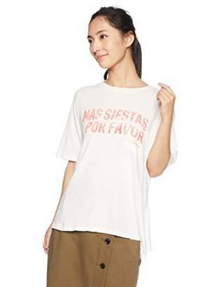 Billabong (ビラボン) - [ビラボン] [レディース] 半袖 プリント Tシャツ (ルーズシルエット)[ AI014-300 / SS TEE Shirts ] サーフ かわいい CWP_オフホワイト US S (日本サイズS相当)