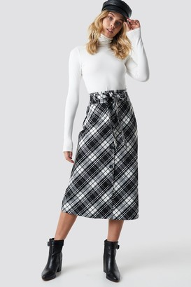 MANGO Flama Midi Skirt Black