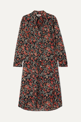 Etoile Isabel Marant Eliane Printed Cotton-voile Dress - Black