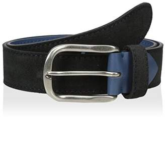 Bolliver Men's Suede Belt with Contrast Stitch and Lining