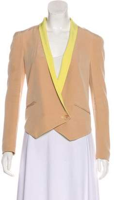 Rebecca Minkoff Cropped Silk Blazer