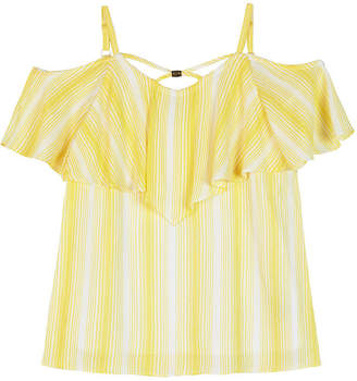 BY AND BY GIRL by&by girl Girls V Neck Short Sleeve Blouse Big Kid