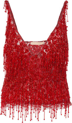 Brock Collection Occurrence Hand-Beaded Lace Top