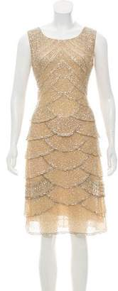 Valentino Embellished Tiered Dress