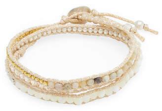 Chan Luu Metallic Straps & Beads Bracelet