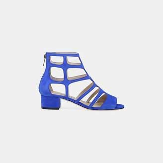 efc6f3177afe Jimmy Choo Blue Block Heel Women s Sandals - ShopStyle
