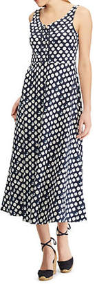 Chaps Petite Sleeveless Cotton Fit-and-Flare Dress